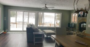 Beautifully remodeled 3 bedroom vacation rental cottage on Lake Ann